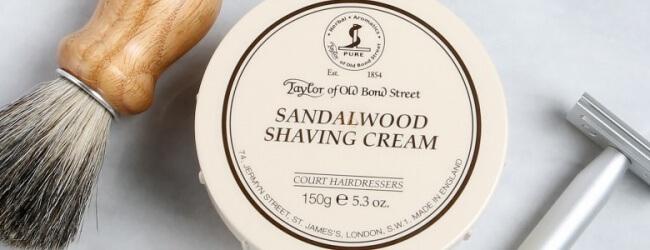 Crema de Afeitar Taylor Of Old Bond Street Sandalwood – Elegante y Olor Varonil